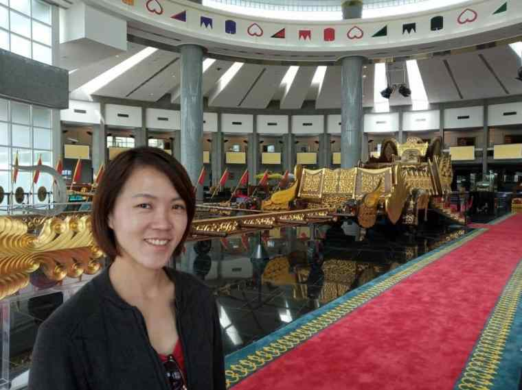 Lydia in the Royal Museum - Brunei itinerary
