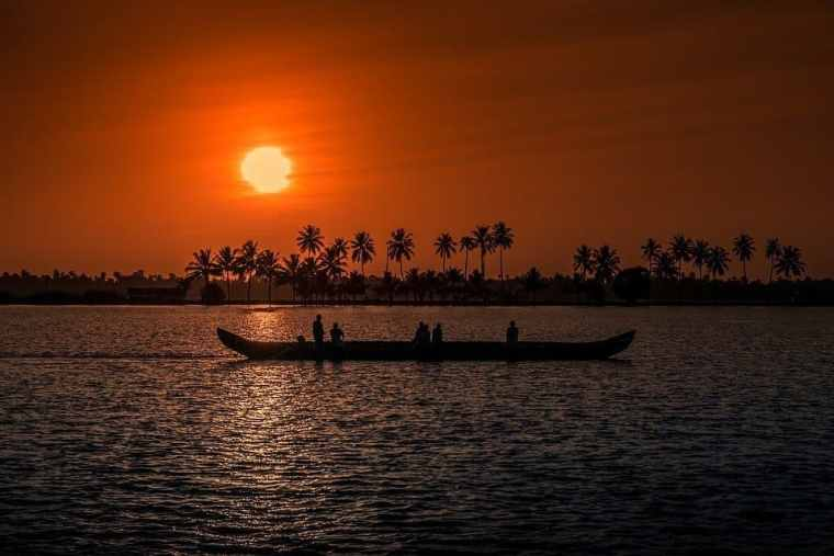 Sunset over Alleppey
