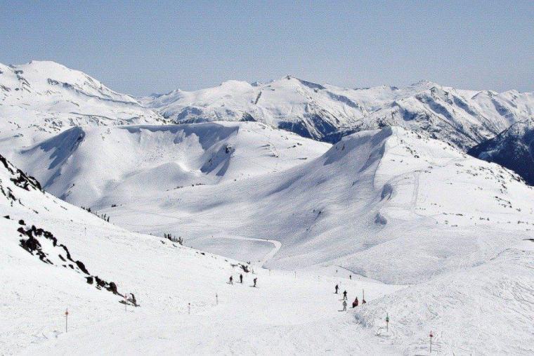 Snow covered ski runs