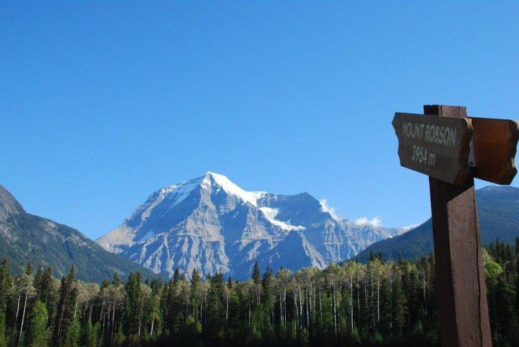 Mount Robson in western Canada