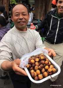 Local seller in ZhangJiaJie National Forest Park