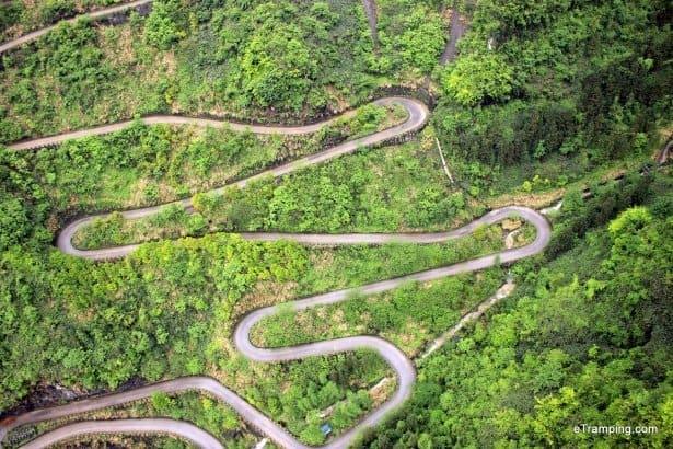 Snake-like road in ZhangJiaJie