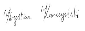 Krystian Karczyński podpis