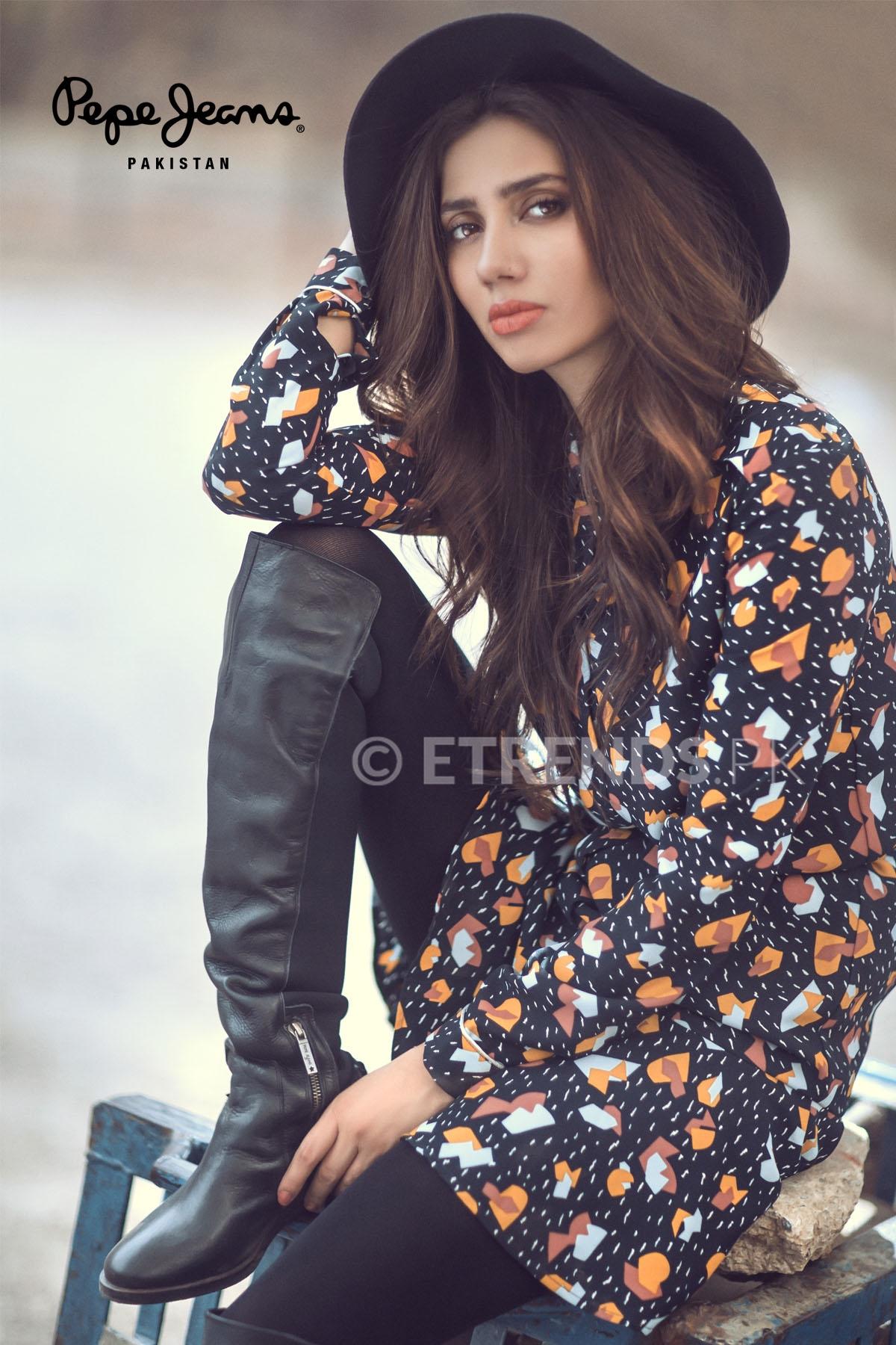 Mahira Khan Shoot For Pepe Jeans Pakistan Winter
