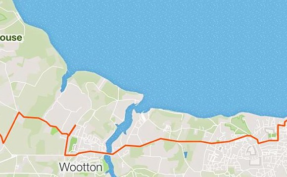 RELIVE VIDEO – East Cowes – Seaview, Isle of Wight – 10.27 Miles – Elevation 818ft