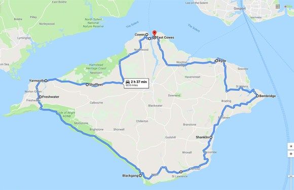 This Week's Ride – 61 Miles Around The Isle Of Wight – Elevation – I hate To Think!