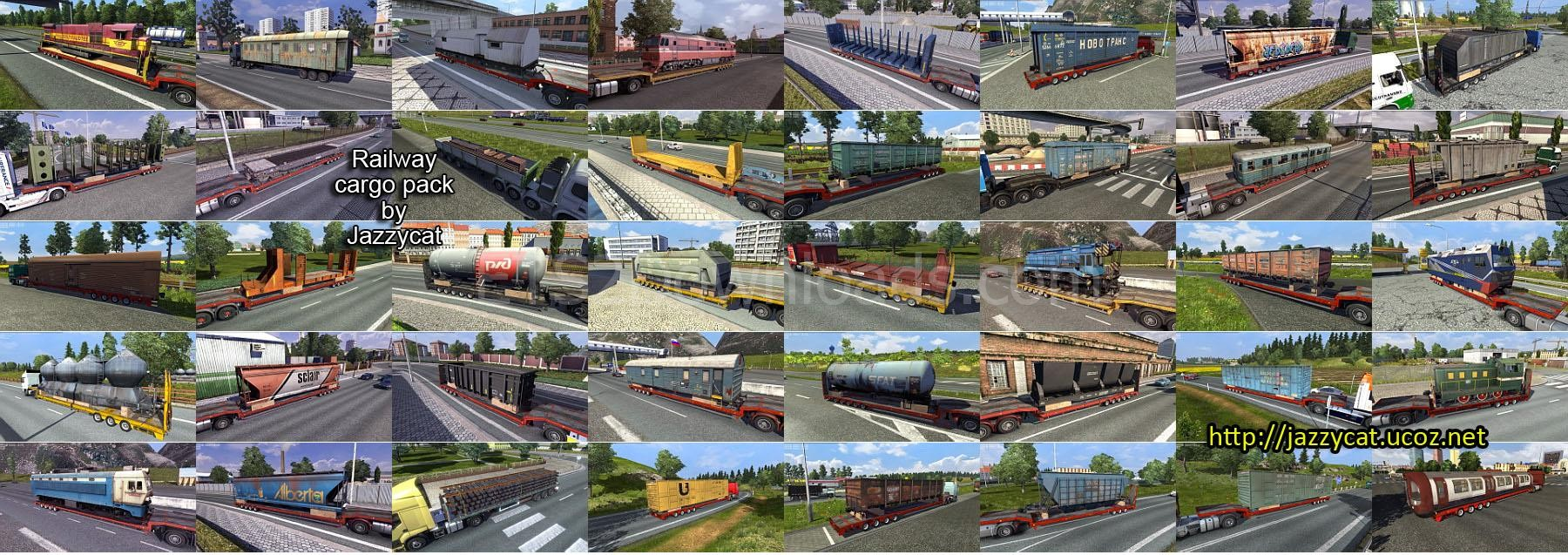 Railway Cargo Pack By Jazzycat v1 8 4 - ETS2 Mods
