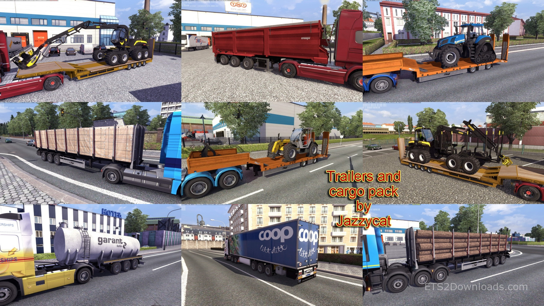 Trailers and Cargo Pack by Jazzycat v3 1 - ETS2 Mods
