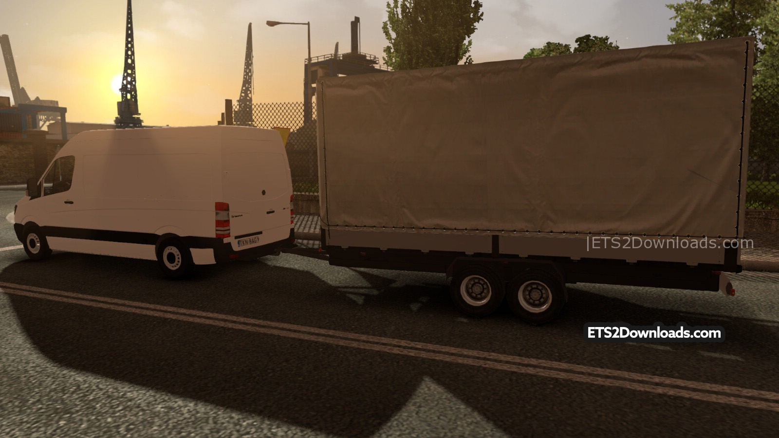 Mercedes-Benz Sprinter + Trailer - ETS2 Mods