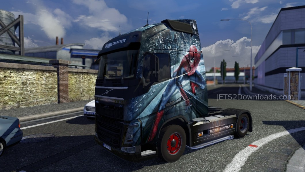 amazing-spiderman-skin-for-volvo