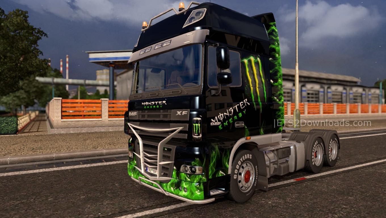 Monster Skin Pack for All Trucks - ETS2 Mods