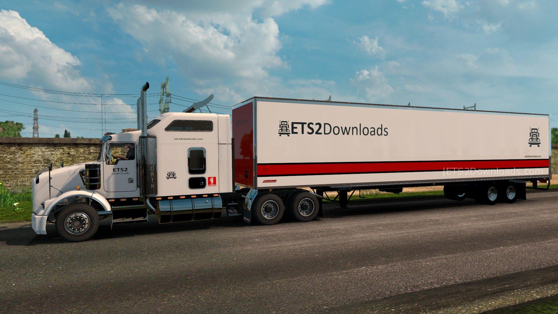 ETS2Downloads Skin Pack for Kenworth T800 - ETS2 Mods