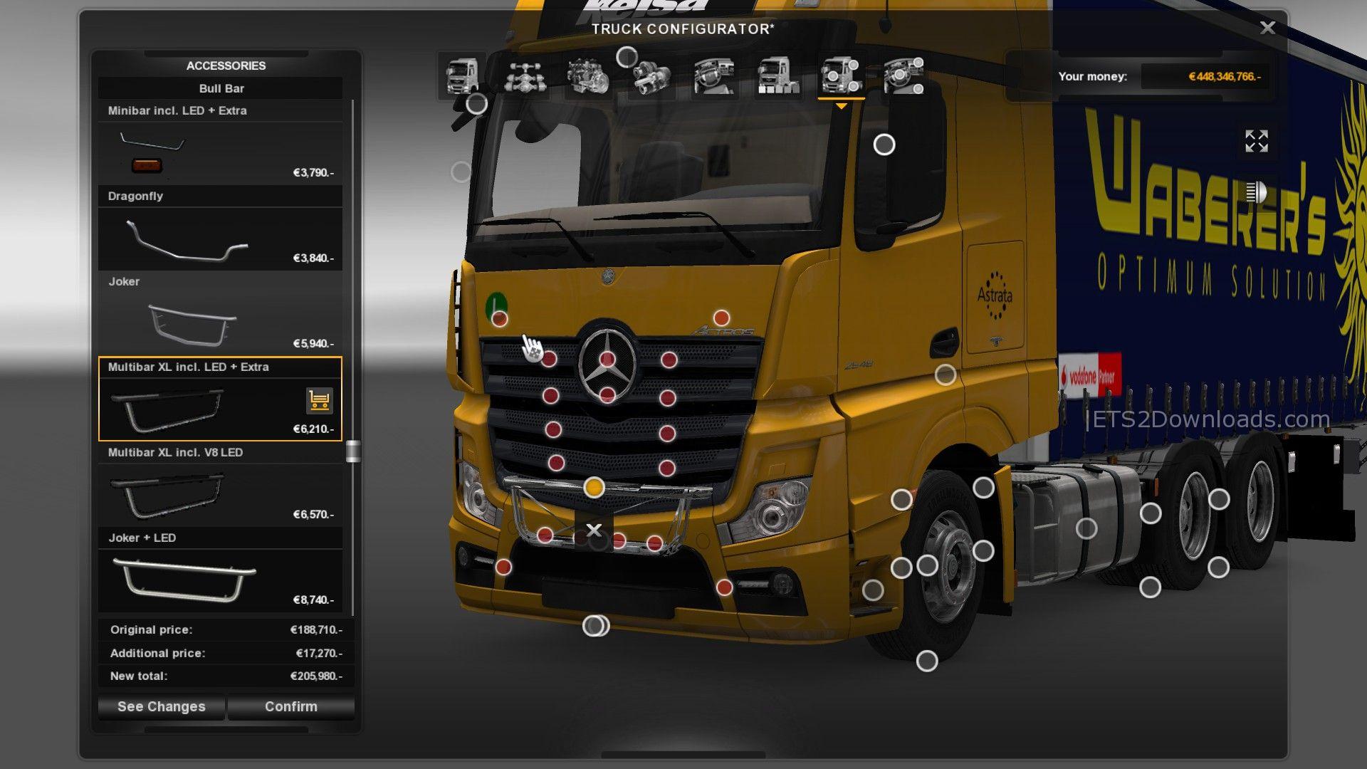 Mercedes-Benz Actros Tandem + Tuning Pack - ETS2 Mods