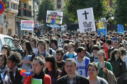 Aquí tenemos a algunos de los manifestantes