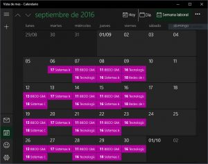 Windows 10 calendar