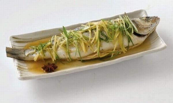 Steamed Seabass with Shredded Ginger