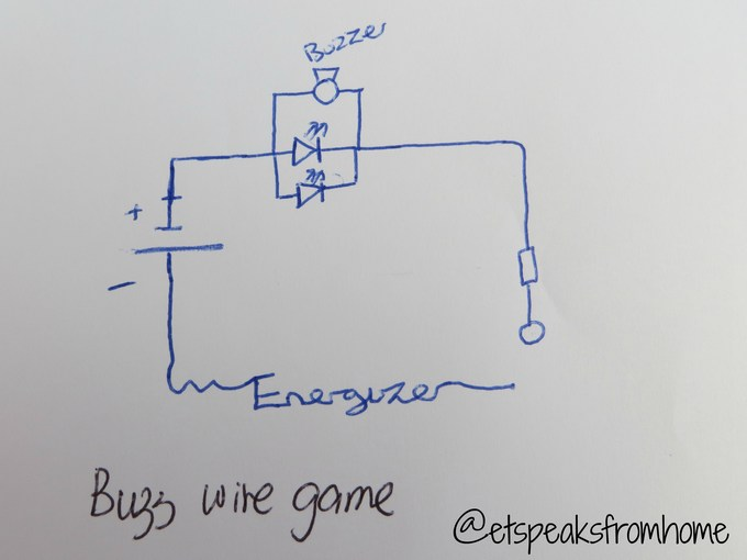 Buzz Wire Game draw plan