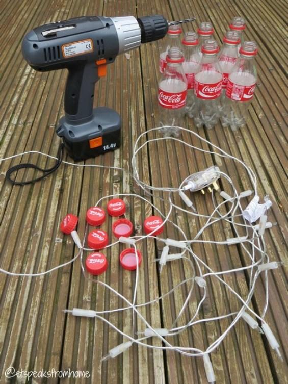DIY coca-cola fairy light