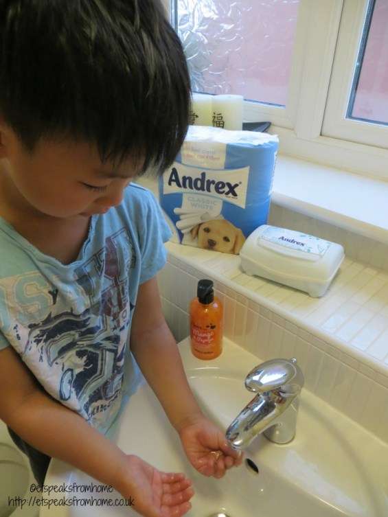 andrex step 5 washing hand