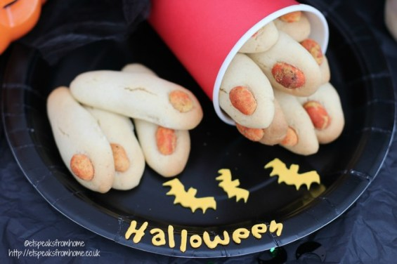 halloween zombie fingers cookies