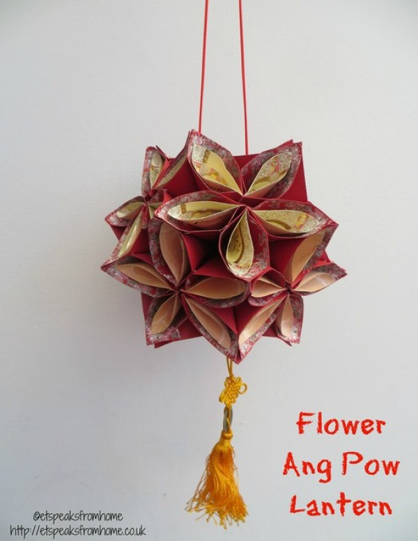 Ang pow flower lantern et speaks from home for Ang pow decoration craft work