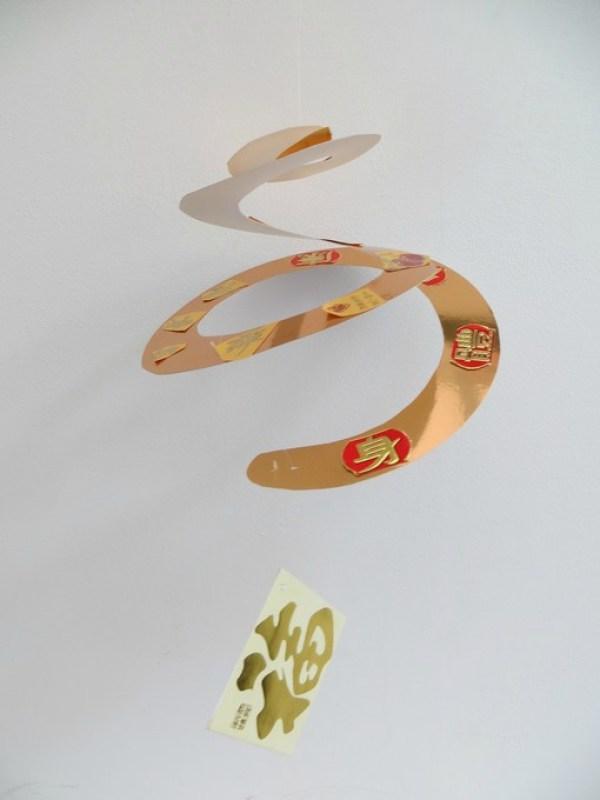 chinese new year spiral craft