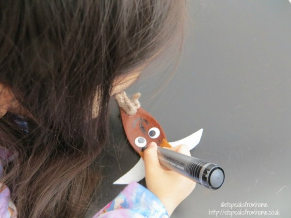 goat wooden spoon