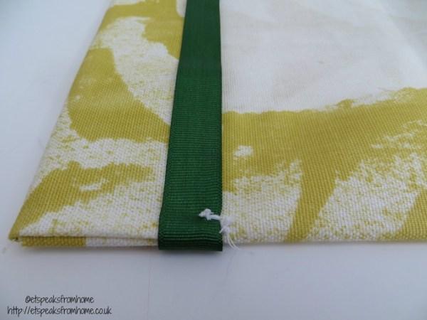 DIY Fabric book cover stitch