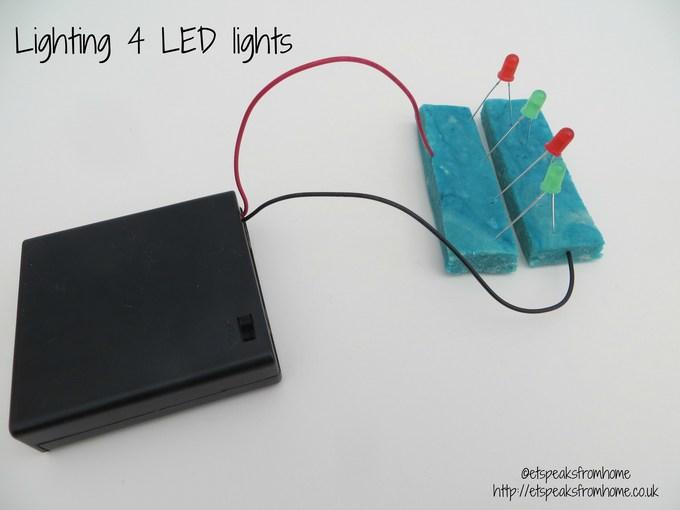 DIY Electric Dough 4 LED lights