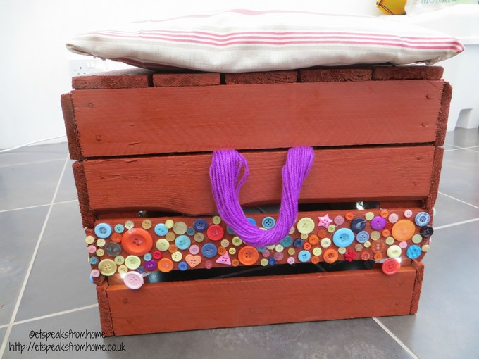upcycled wooden crate stool