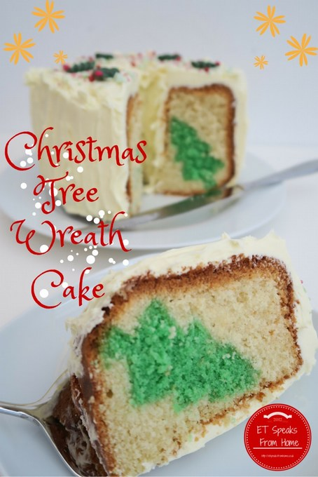 christmas tree wreath cake with sophie conran cake lifter