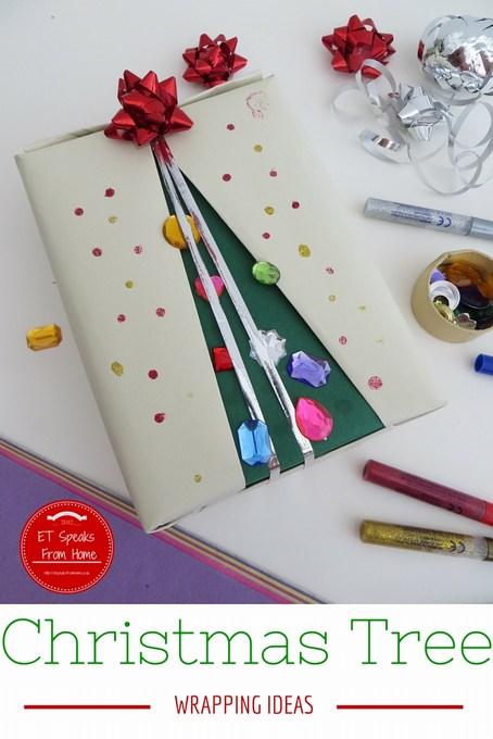 christmas tree wrapping idea