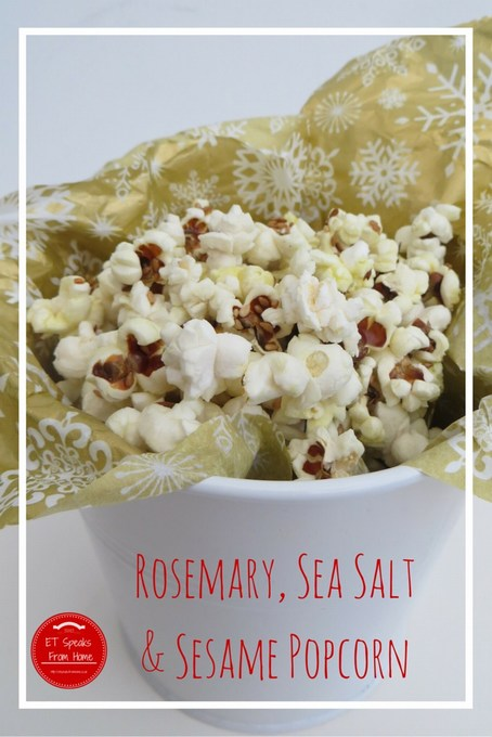 rosemary, sea salt & sesame popcorn