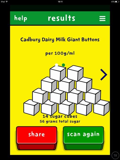 sugar smart app sugar contents