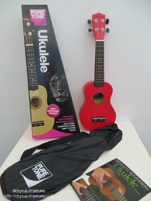 ukulele red pure tone