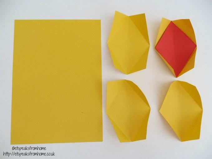 chinese new year pineapple yellow paper