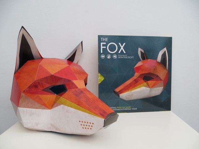 fox mask book Press Out Masks