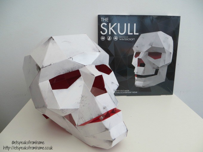 skull mask book Press Out Masks
