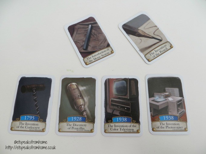 timeline inventions cards