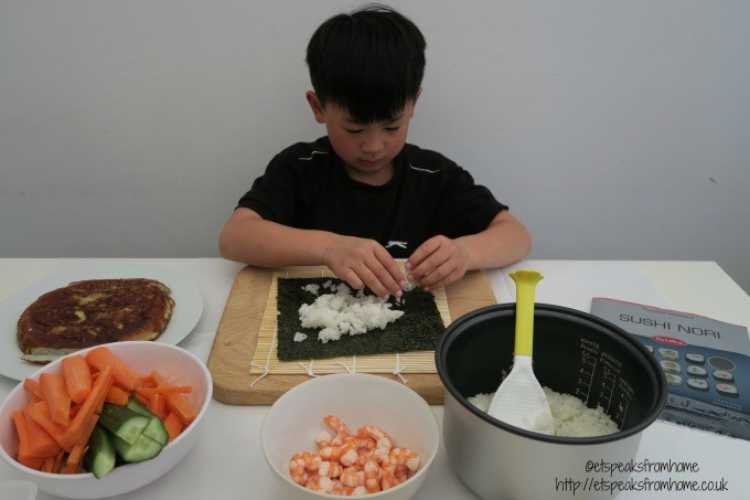 making sushi with yataka