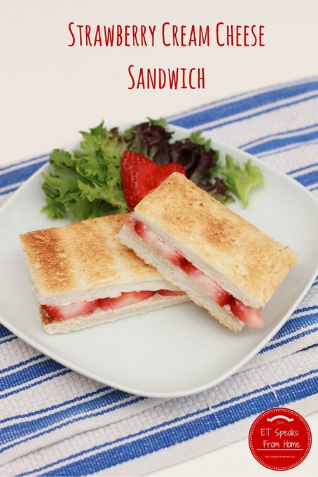 strawberry cream cheese toasted sandwich