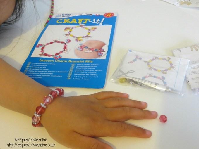 baker ross unicorn charm bracelet