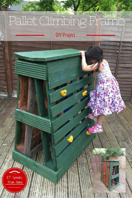 how to build pallet climbing frame