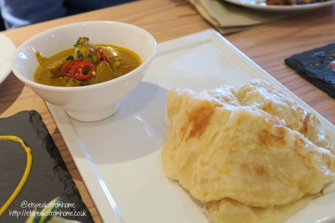 chi kitchen roti with malaysia curry sauce
