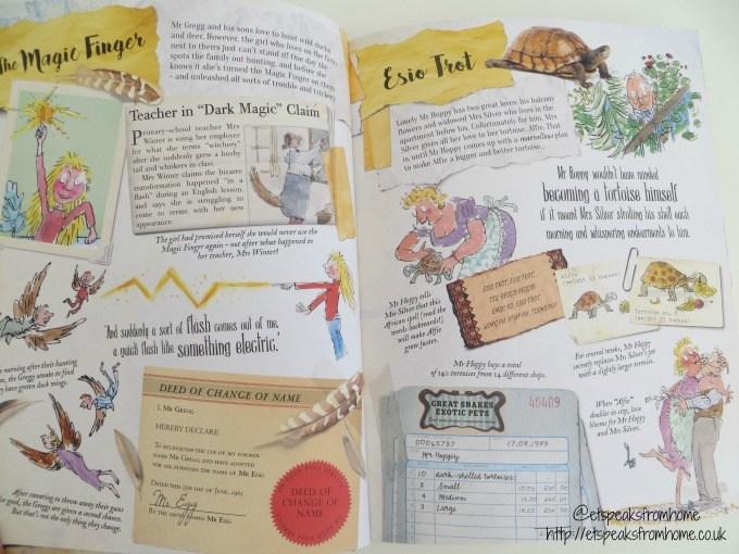 the Gloriumptious Worlds of Roald Dahl book