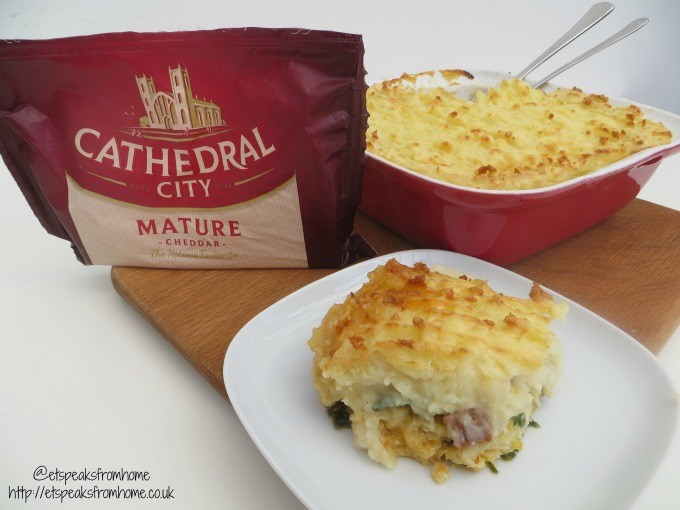 cheesy fish pie with cathedral city mature cheddar