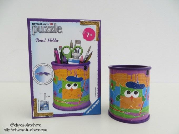 ravensburger 3d puzzle funky owl pencil holder