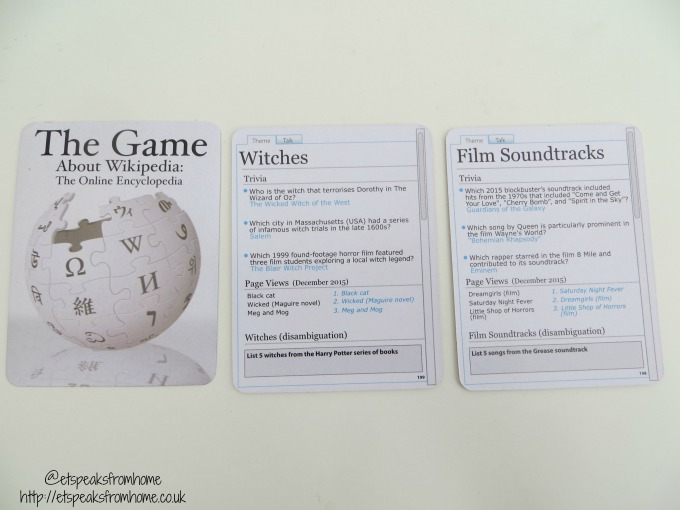 the game about wikipedia cards