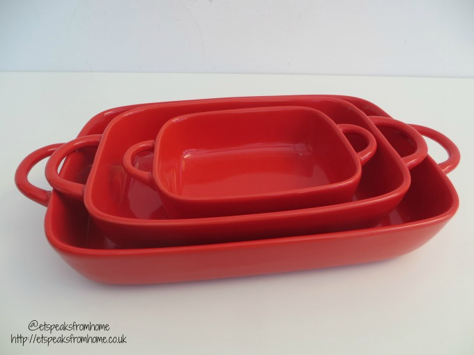 Pro Cook Stoneware Oven-to-Table Pieces red