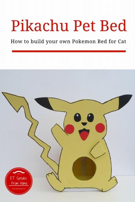 pikachu pet bed